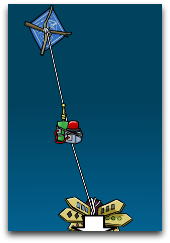 how to put the string on a kite