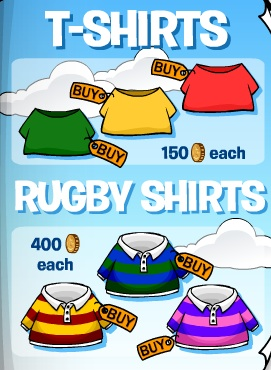 Club Penguin February 2009 Clothing Catalog Cheats And Secrets