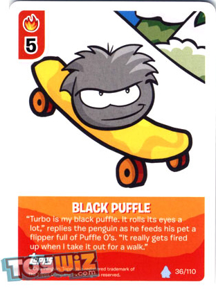 black puffle deck