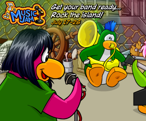 Club Penguin July 2009 Music Party Cheats